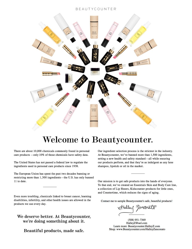Halley Intro to Beautycounter One Page Flyer